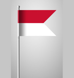 Flag of monaco national flag on flagpole vector