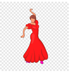 Flamenco dancer icon cartoon style vector
