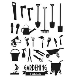 Gardening tools gardener agriculture equipment vector