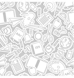 gray stationery pattern vector image
