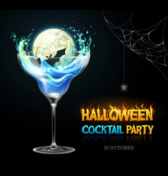 halloween poison with full moon vector image