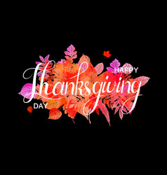 happy thanksgiving day poster vector image