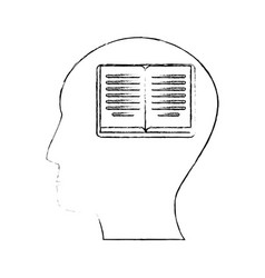 Head human book creativity vector