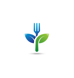 healthy food logo vector image