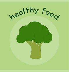 healthy food with broccoli vector image
