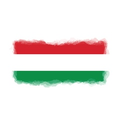 Hungary flag watercolor style vector