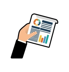 Infographic hand document site icon vector