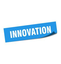 Innovation sticker innovation square isolated vector