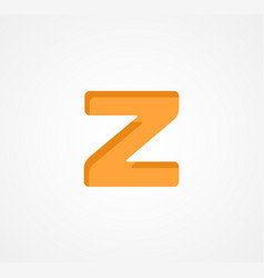 Letter z bold geometric font element modern vector