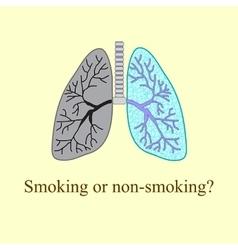 Light smoker The harm of smoking vector