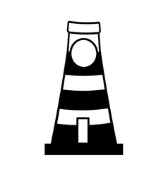Lighthouse building tower guide line vector