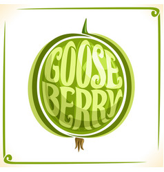 logo for green gooseberry vector image