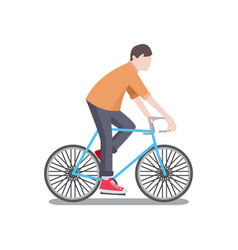 man riding bicycle poster vector image