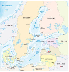 map baltic sea northeurope vector image