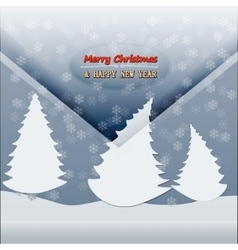 Merry christmas happy new year 10 vector image