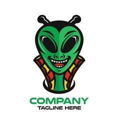 Modern mascot is an alien logo vector