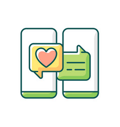 Online dating rgb color icon vector