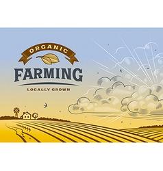 Organic farming landscape vector
