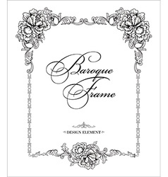 Ornamental frame Baroque pattern vector