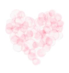 Pink heart watercolor symbol of love vector