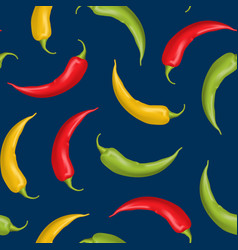 realistic detailed 3d whole hot chili pepper vector image