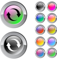 Refresh multicolor round button vector image