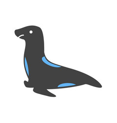 Sea dog icon vector