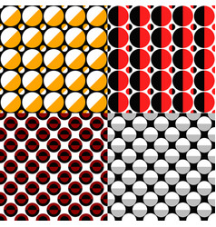 Seamless geometrical circle pattern background vector