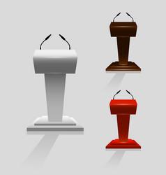 set of tribune for performances speaker vector image
