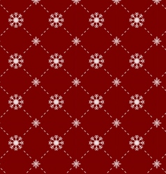 Snowflakes seamless pattern in red background vector