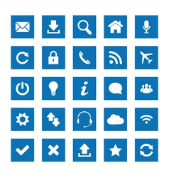 Square web icons vector