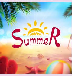 stock realistic beach summer vector image
