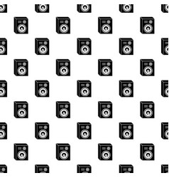 Studio speakers pattern seamless vector