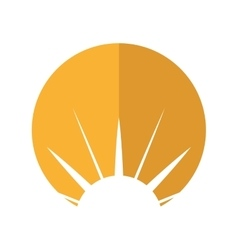 sun emblem isolated icon vector image