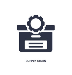 Supply chain icon on white background simple vector