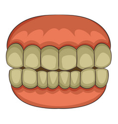 teeth icon cartoon style vector image