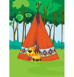 tiger tent vector image