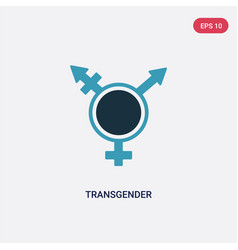 Two color transgender icon from social concept vector