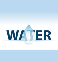 water text and drop vector image