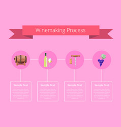 winemaking process on pink vector image