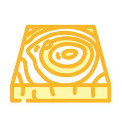 Wooden floor color icon vector