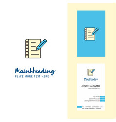 writing on notes creative logo and business card vector image