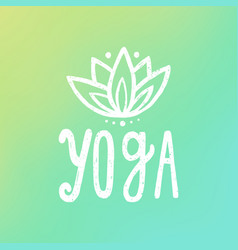 Yoga and lotus on gradient background vector