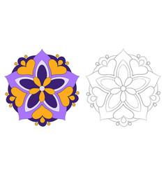 Zen mandala for coloring activitycoloring vector