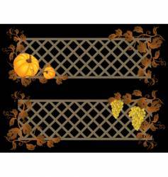 autumn banner vector image vector image