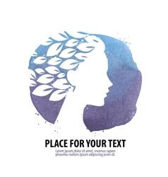 Beautiful girl Logo icon emblem template vector image