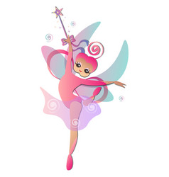 fairy with magic stick vector image vector image