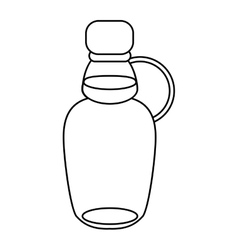maple syrup bottle traditional outline vector image