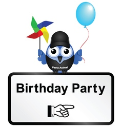 SIGN BIRTHDAY PARTY vector image vector image