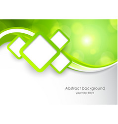 Abstract green background with squares vector image vector image